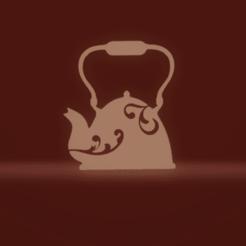 c2.png Download STL file wall decor tea pot • 3D printer design, satis3d
