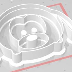 Imprimir en 3D perro de estampado de cortador de galletas, satis3d