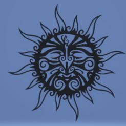 c1.png Télécharger fichier STL décoration murale soleil • Objet pour imprimante 3D, satis3d