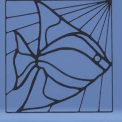 Télécharger fichier 3D décoration murale poisson vitral, satis3d