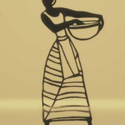 Télécharger fichier impression 3D décoration murale femmes africaines, satis3d