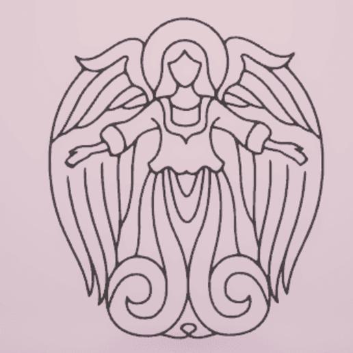 c1.png Télécharger fichier STL gratuit ange de la décoration murale • Design imprimable en 3D, satis3d