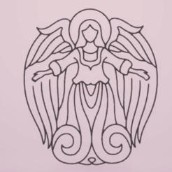 Download free 3D model wall decor angel, satis3d