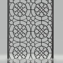 Télécharger plan imprimante 3D décor mural géométrique vitral, satis3d