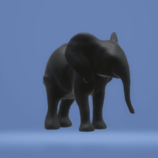 Download Stl File Statue Elephant 3d Printable Model Cults Elephant silhouette animal cartoon, white elephant png. cults 3d