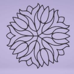 c1.png Download STL file wall decor mandala flower • 3D printer design, satis3d