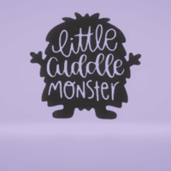 c1.png Download STL file wall decor cuddle monster • Template to 3D print, satis3d