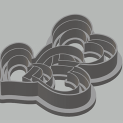 Descargar modelo 3D corazón del sello del cortador de galletas, satis3d