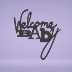 c1.png Download STL file wall decor welcome baby • 3D print object, satis3d
