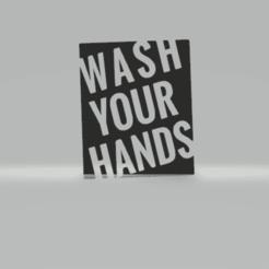 c1.png Télécharger fichier STL gratuit décoration murale se laver les mains • Modèle à imprimer en 3D, satis3d