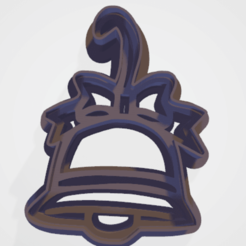c1.png Download STL file cookie cutter stamp Christmas bell • 3D printer template, satis3d