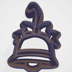 Descargar diseños 3D sello del cortador de galletas campana de Navidad, satis3d