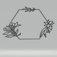 Download STL file wall decor botanical frame set • 3D printer model, satis3d