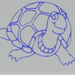 Télécharger STL tortue décorative murale, satis3d