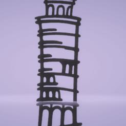 c1.png Download STL file wall decor pisa tower • 3D printable model, satis3d