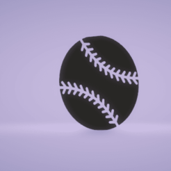 c1.png Download STL file wall decor baseball ball • 3D printer design, satis3d