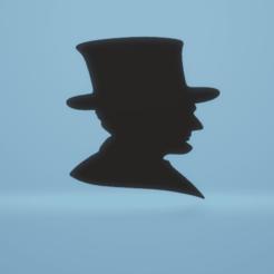 c1.png Télécharger fichier STL décoration murale Silhouette d'Abraham Lincoln • Modèle pour imprimante 3D, satis3d