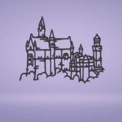 c1.png Télécharger fichier STL décoration murale du château de Neuschawanstein • Design imprimable en 3D, satis3d