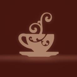 c1.png Download STL file wall decor tea cup • 3D print object, satis3d