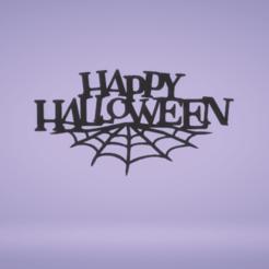 c1.png Download STL file wall decor happy halloween letters • 3D printer model, satis3d