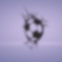soccer ball craks.stl Download STL file wall decor soccer ball cracks • 3D printer design, satis3d