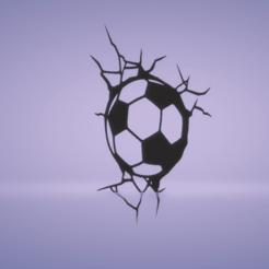 c1.png Download STL file wall decor soccer ball cracks • 3D printer design, satis3d