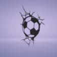 c1.png Download STL file wall decor soccer ball cracks • 3D printer design, satis3d