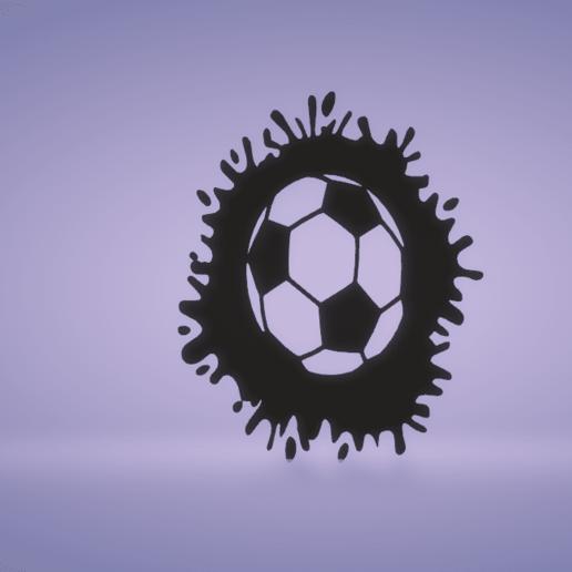 c1.png Download STL file wall decor soccer ball splat • 3D printable model, satis3d