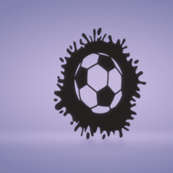 c1.png Download STL file wall decor soccer ball splat • 3D printable model, satis3d