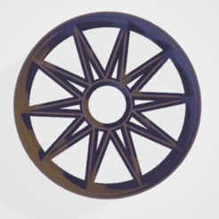 c1.png Download STL file cookie cutter stamp mandala sun • Template to 3D print, satis3d