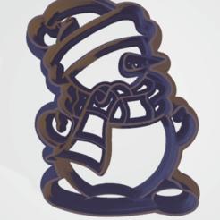 c1.png Download STL file cookie cutter stamp snowman  • 3D print design, satis3d