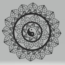 c1.png Download STL file wall decor mandala yin yang • 3D print template, satis3d