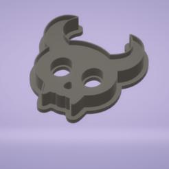 c1.png Download STL file cookie cutter stamp devil skull • 3D printer model, satis3d