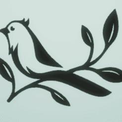 Télécharger modèle 3D décoration murale oiseau, satis3d