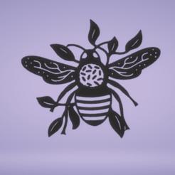 c1.png Download STL file wall decor honey bee • 3D print model, satis3d