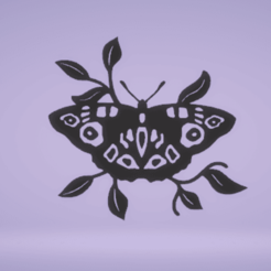 c1.png Download STL file wall decor butterfly • Template to 3D print, satis3d
