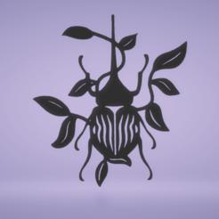 c1.png Download STL file wall decor hercules beetle • 3D printing object, satis3d