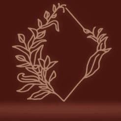 Télécharger fichier STL décor mural cadre botanique • Objet pour impression 3D, satis3d