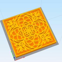 c1.png Télécharger fichier STL décor mural mandala 3d • Plan imprimable en 3D, satis3d