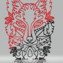 Download STL file wall decor wolf, satis3d