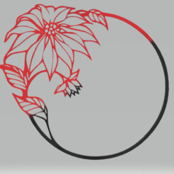c1.png Download STL file wall decor circle flower • Template to 3D print, satis3d