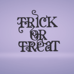 c1.png Download STL file wall decor trick or treat • 3D print object, satis3d