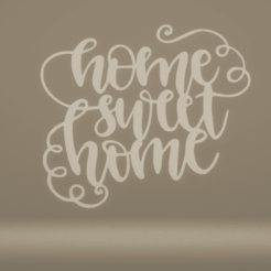 c1.png Download STL file wall decor sweet home letters • 3D printable template, satis3d