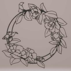 c1.png Télécharger fichier STL décoration murale fleur en cercle • Design pour impression 3D, satis3d