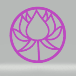 c1.png Download STL file wall decor lotus • 3D printable design, satis3d