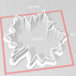 Descargar diseños 3D cortador de galletas de hoja de arce, maryhynes16