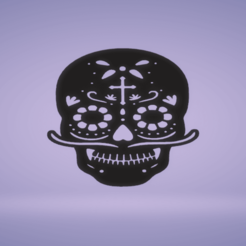 c1.png Download STL file wall decor skull-day of the dead • 3D printing design, satis3d