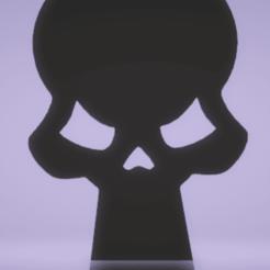 Télécharger fichier 3D décoration murale crâne, satis3d