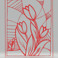 c1.png Download STL file wall decor tulip • Object to 3D print, satis3d