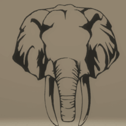 Download 3D printing models wall decor elephant, satis3d